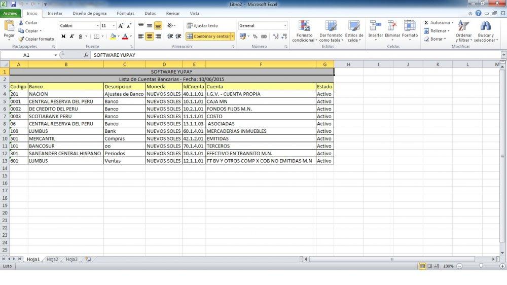 Exportar a Excel
