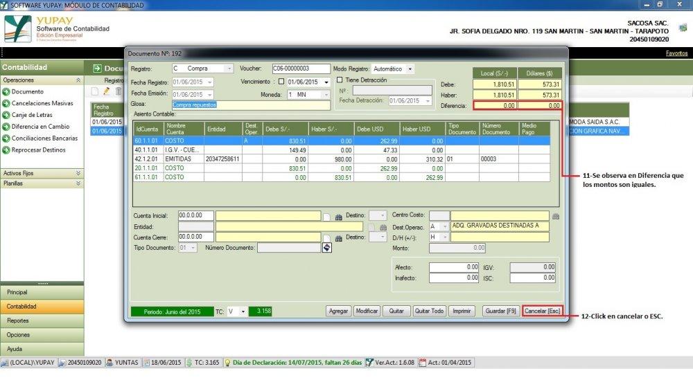Gestión de Documentos : Compra de Mercadería - Corregir Redondeos