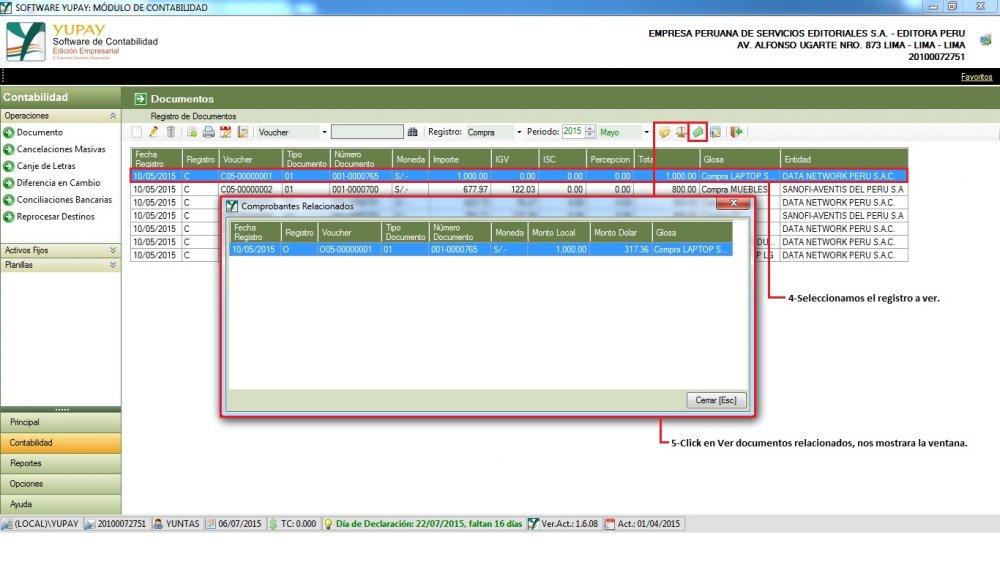 Gestión de Documentos : Compra de Mercadería - Ver Documentos Relacionados