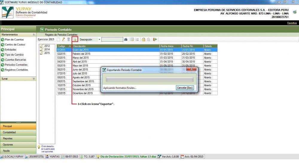 Exportar registros a Excel
