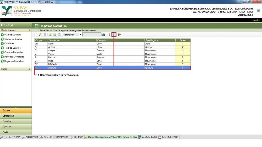 Registro Contable - Bajar Orden